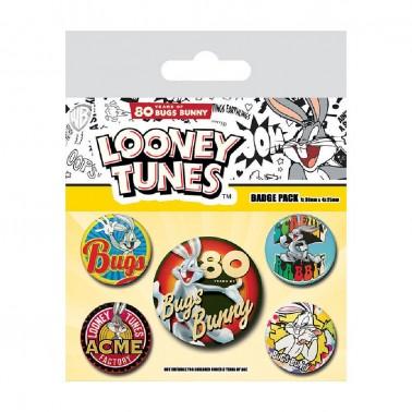 Set de chapas Bugs Bunny 80 aniversario