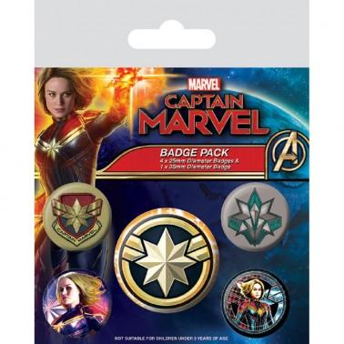 Set de insignias Capitana Marvel
