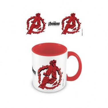 Taza Avengers Endgame Logo roja