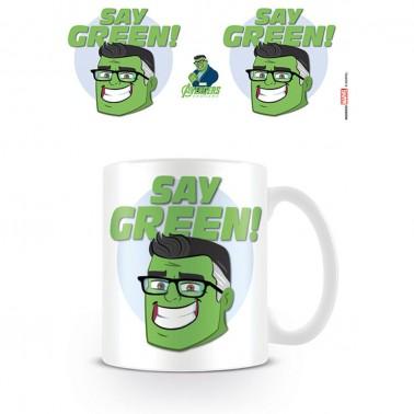 Taza Avengers Say Green