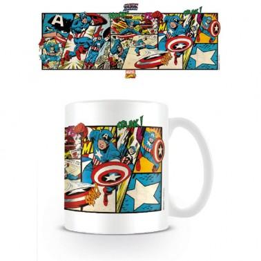 Taza Capitán América Viñetas