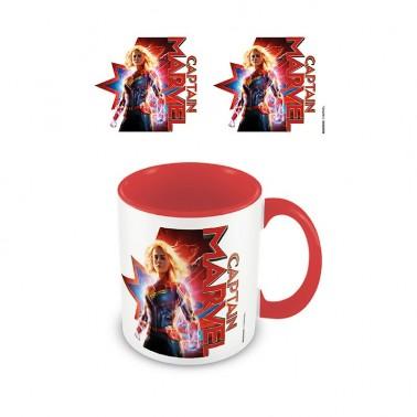 Taza Capitana Marvel Defensora roja