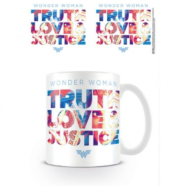 Taza Wonder Woman Truth Love Justice