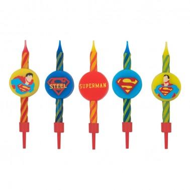 Velas de cumpleaños Superman