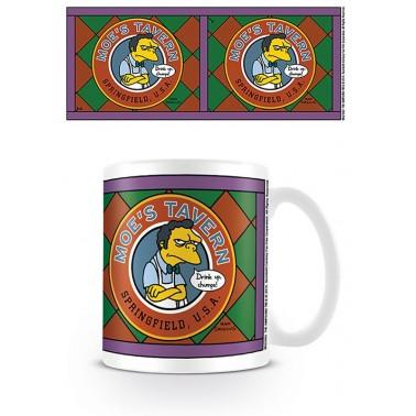 Taza de desayuno Los Simpson La Taberna de Moe