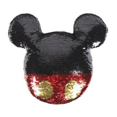 Cojín de lentejuelas con forma Mickey