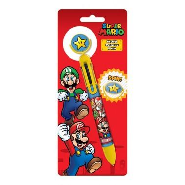 Boligrafo Super Mario 6 colores