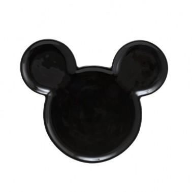 Plato de Cerámica Mickey negro