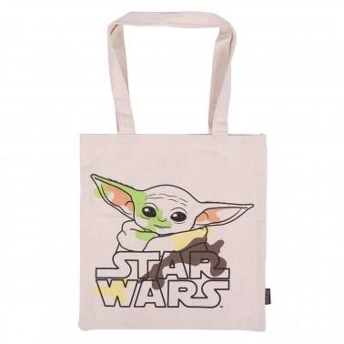 Bolsa de algodón con asas Baby Yoda