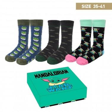 Caja calcetines The Mandalorian talla 35-41