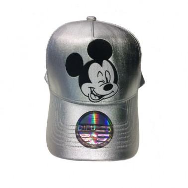 Gorra de Mickey plateada