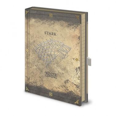 Cuaderno Premium Casa Stark