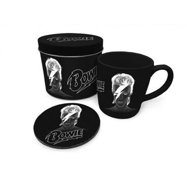 Lata regalo taza + posavasos David Bowie X-Ray