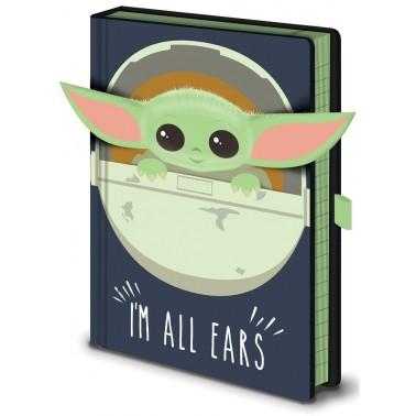Cuaderno A5 premium The Mandalorian I'm All Ears