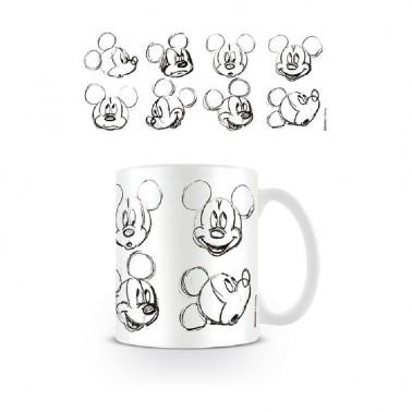 Taza de desayuno Mickey & Minnie Sketch Caras