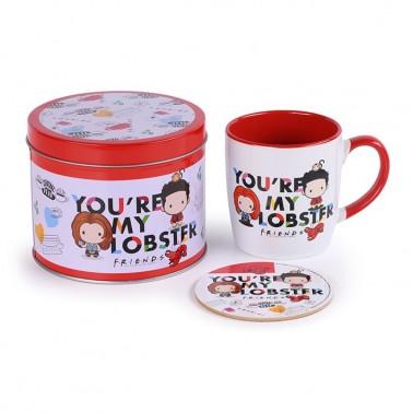 Lata regalo taza + posavasos Friends Lobster