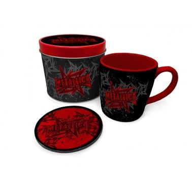 Lata regalo taza + posavasos Metallica