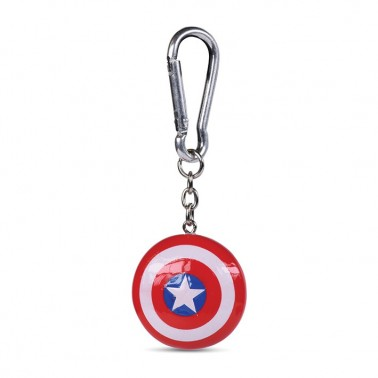 Llavero 3D Poliresina Escudo Capitán América
