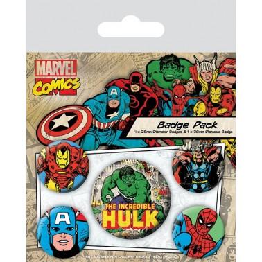 Juego de chapas Hulk y varios