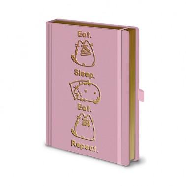 Cuaderno A5 Premium Pusheen Comer. Dormir