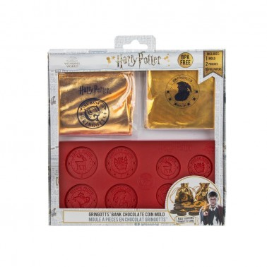 Molde para chocolatinas moneda Banco Gringotts