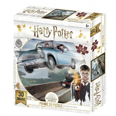 Puzzle lenticular Harry Potter Ford Anglia 500 piezas