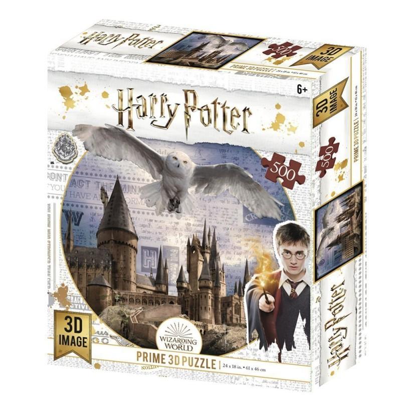 Puzzle lenticular Harry Potter Hogwarts & Hedwig 500 piezas