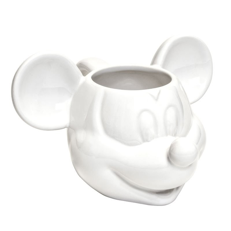 Taza de Cerámica Mickey 3D Blanca