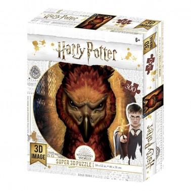 Puzzle lenticular Harry Potter Fawkes 300 piezas