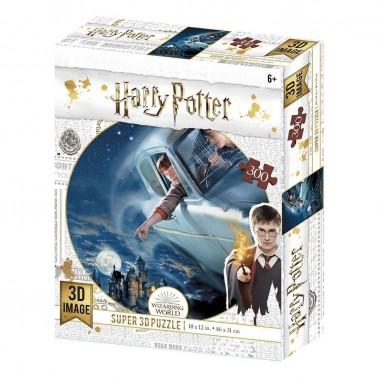 Puzzle lenticular Harry Potter y Ron en el Ford Anglia 300 piezas