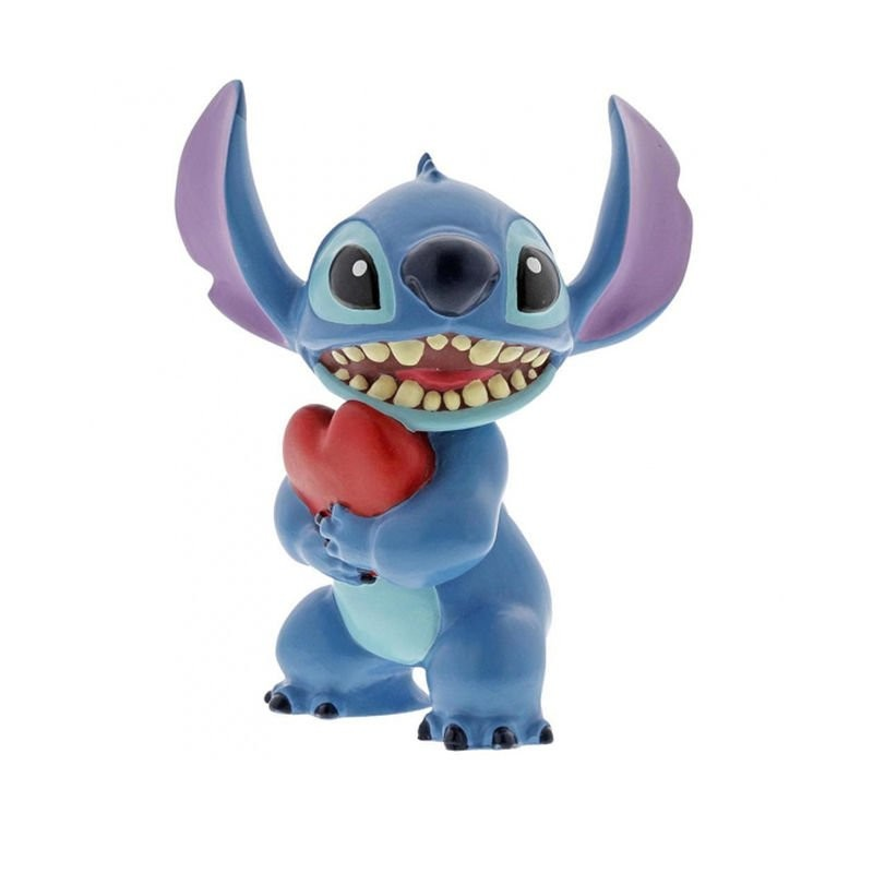 Figura decorativa de Stitch con corazón