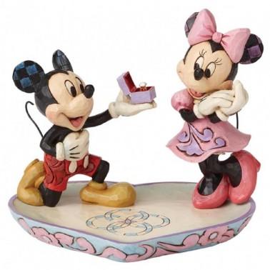 Figura decorativa Mickey y Minnie