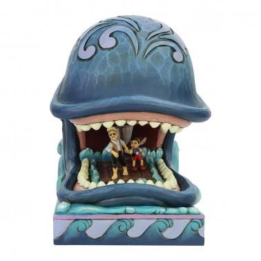 Figura Disney Gepetto y Pinocho en la ballena