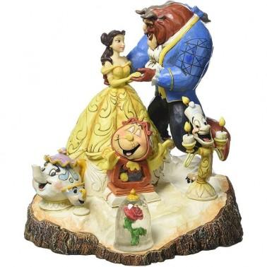 Figura decorativa La Bella y la Bestia bailando