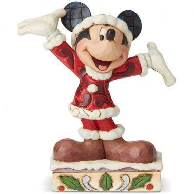 Figura decorativa Mickey en Navidad