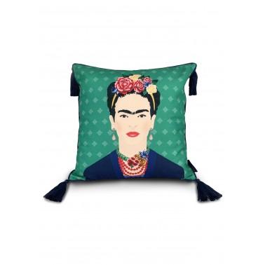 Cojín Frida Kahlo Verde Vogue