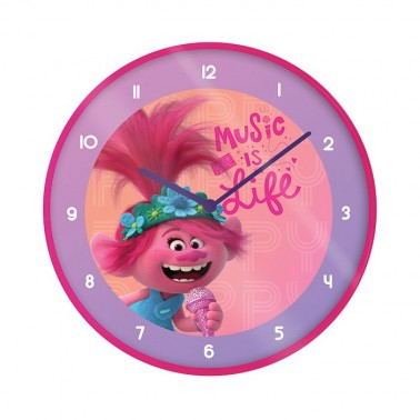 Reloj de Pared Trolls (Music is life)
