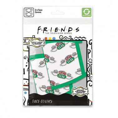 Pack de 2 mascarillas textiles premium Central Perk
