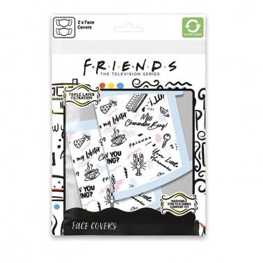 Pack de 2 mascarillas textiles premium frases Friends