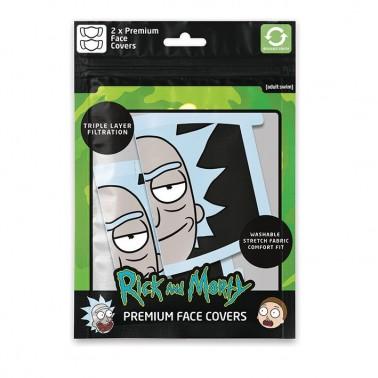 Pack de 2 mascarillas textiles premium Rick & Morty