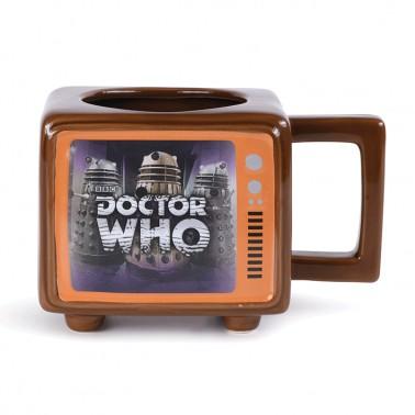 Taza térmica con forma de TV Retro Dr. Who
