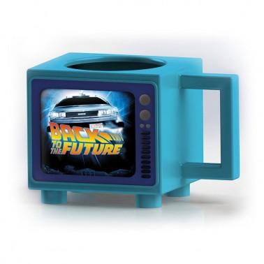 Taza térmica forma TV Retro Regreso al Futuro