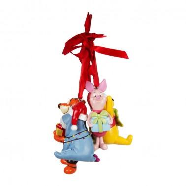 Juego de 4 adornos navideños personajes Winnie de Pooh