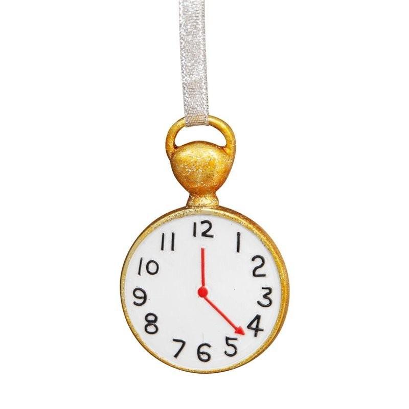 Adorno navideño Reloj de Bolsillo de Alicia en el País de las Maravillas