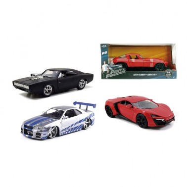 Display Figuras Fast & Furious Coches 1:24