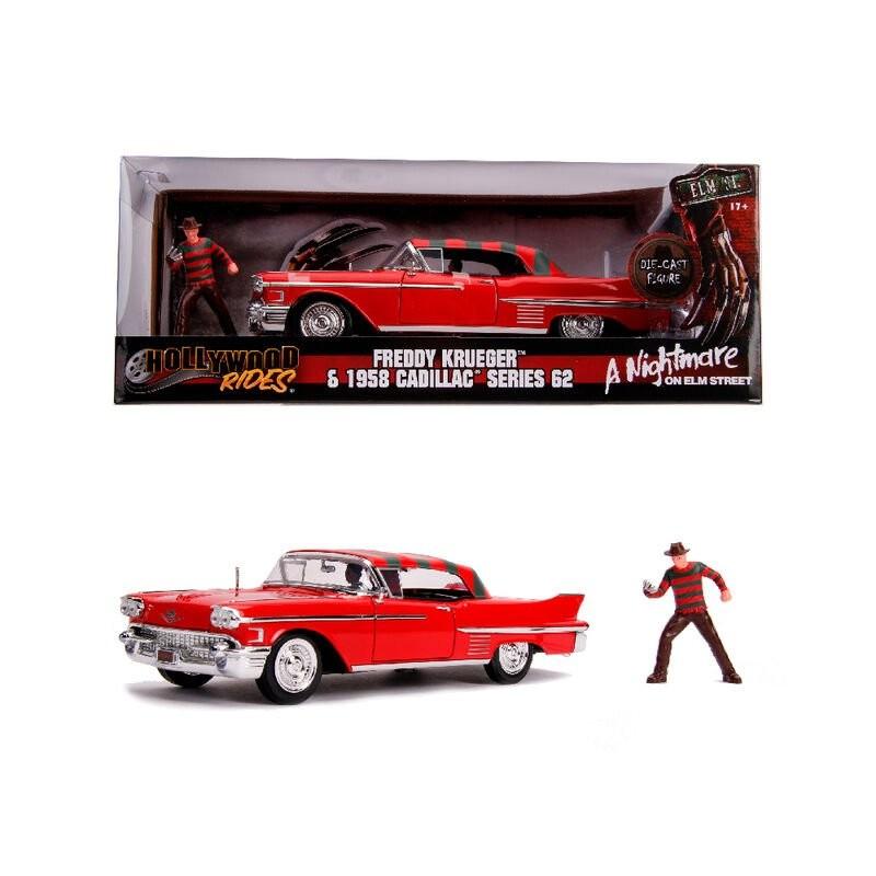 Set figuras Cadillac 62 y Freddie Kruger 1:24