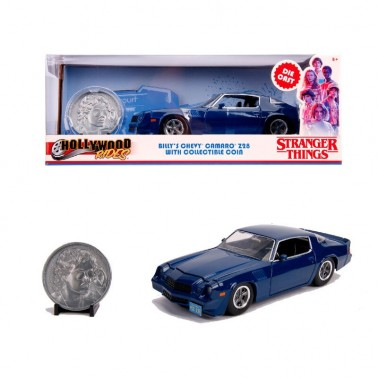 Figura metálica Stranger Things Chevy Camaro 1:24