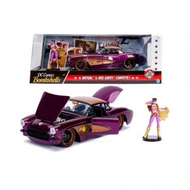 Set figuras Chevy Corvette 1957 y Batgirl 1:24