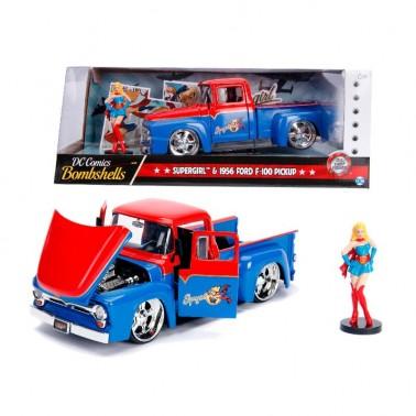 Set figuras Pick up Ford F-100 y Supergirl 1:24