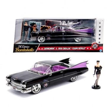Set figuras Cadillac Coupe DeVille y Catwoman 1:24